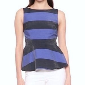 NWT Banana Republic Striped Shimmer Peplum top